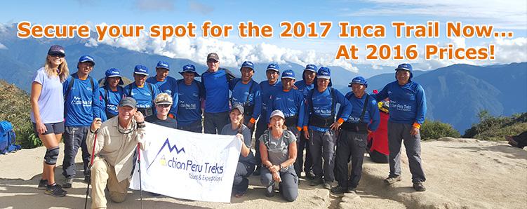 Inca Trail 2017 Booking